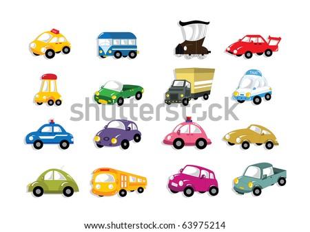 cartoon car icon - stock vector