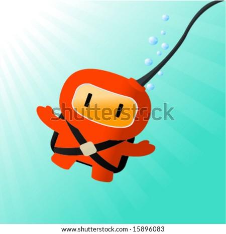 Cartoon character - stock vector