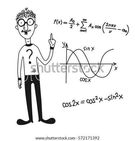 Cartoon character mathematical symbols vector stock vector 572171392 cartoon character and mathematical symbolsctor publicscrutiny Choice Image