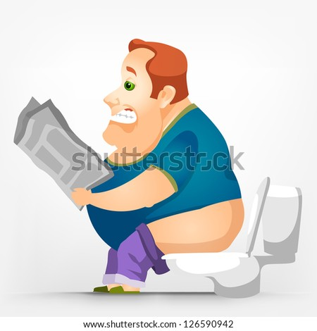 Chubby Man Sitting Stock Images Royalty Free Images