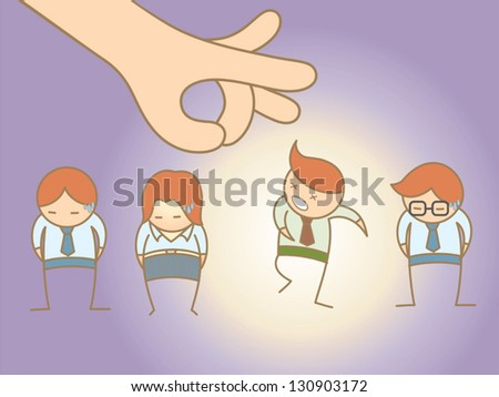 cartoon character concept for layoff employee - stock vector