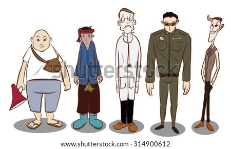 Old man cartoon stock vector 424495003 shutterstock for Character designer job