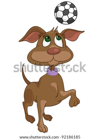 Cartoon Character Dog Isolated on White Background. Vector. - stock vector