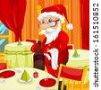 Cartoon Character Santa Claus. Vector EPS 10. - stock