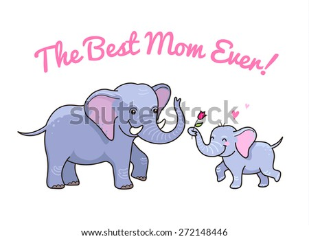 Baby Elephant Isolated Mother Stock Photos, Images ...