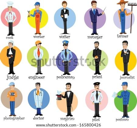Cartoon human character cartoon characters of