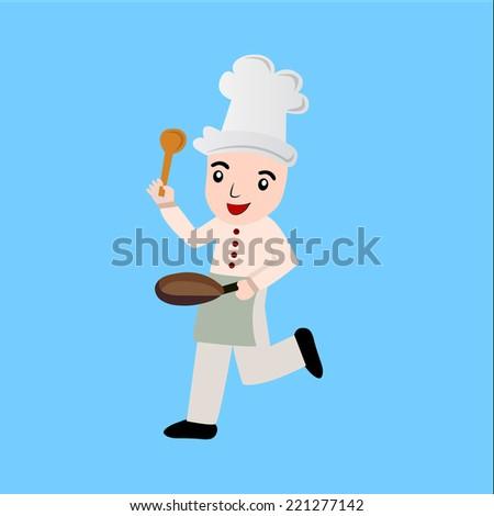 Cartoon chef vector - stock vector