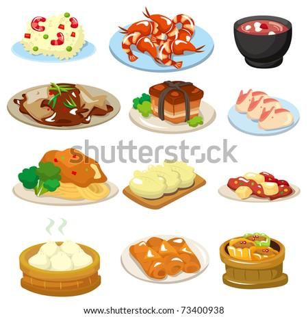 cartoon chinese food icon - stock vector