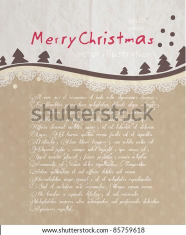 Cartoon Christmas background - stock vector