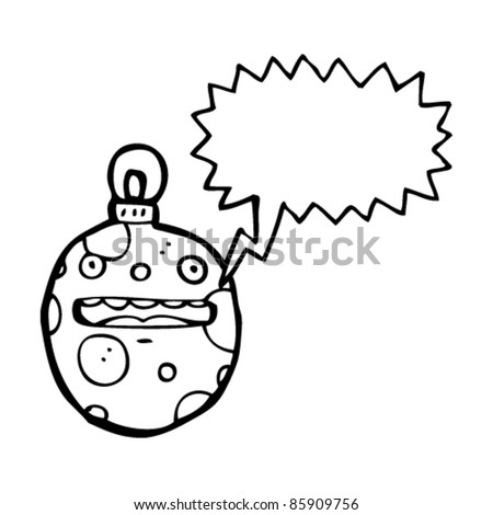 cartoon christmas bauble character