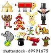cartoon circus icon - stock photo
