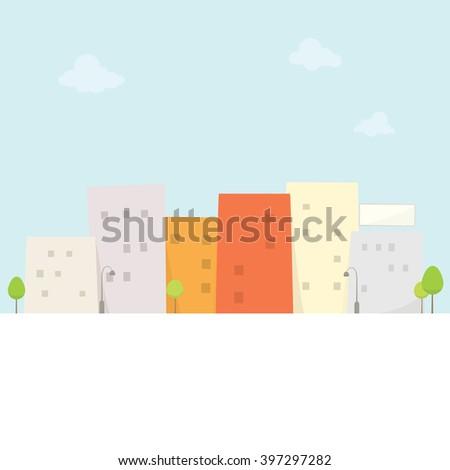 cartoon city view - stock vector