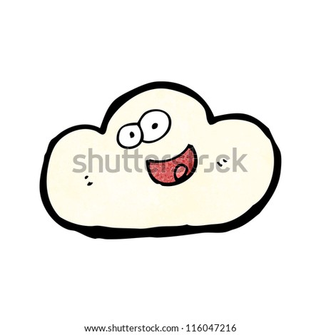 cartoon cloud - stock vector
