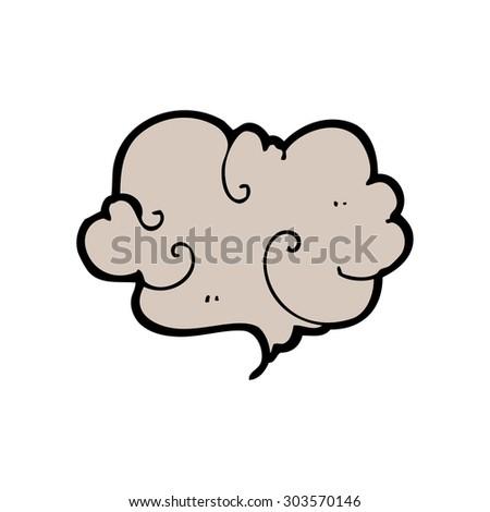 cartoon cloud of smoke - stock vector