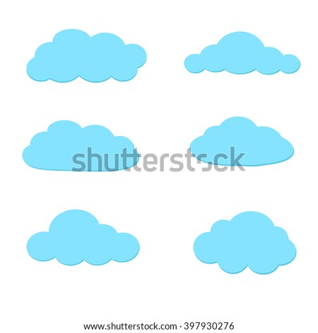Cartoon clouds. Illustration on white background for design
