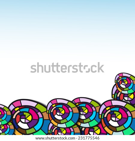 cartoon colors frame for your presentation - stock vector