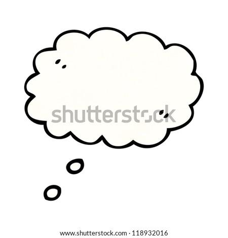 cartoon comic book thought bubble - stock vector