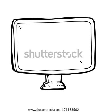 cartoon computer screen - stock vector