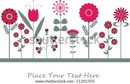 Cartoon congratulatory card .vector illustration - stock vector