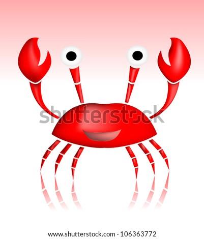Cartoon crab - stock vector