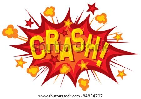 cartoon - crash (comic book element) - stock vector