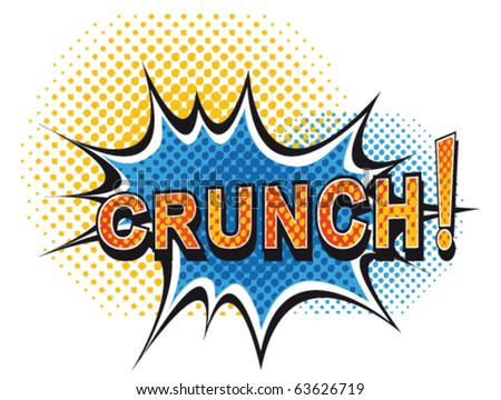 Cartoon-crunch - stock vector
