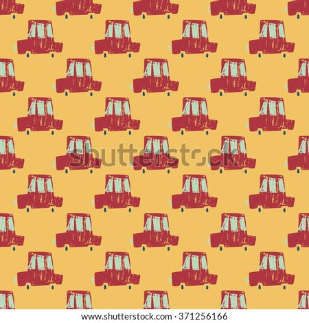 Cartoon cute cars seamless background vector  - stock vector