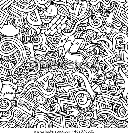 Cartoon cute doodles hand drawn idea stock vector for Coloring pages with lots of detail