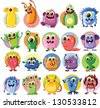 Cartoon cute monsters - stock photo