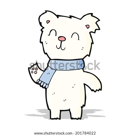 Cute cartoon polar bear cubs - photo#25