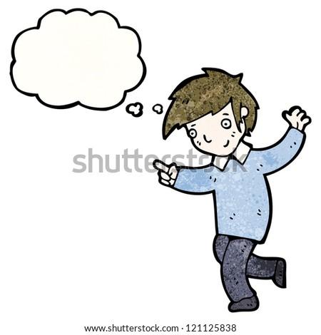 Cartoon Dancing Boy Stock Vector 121125838
