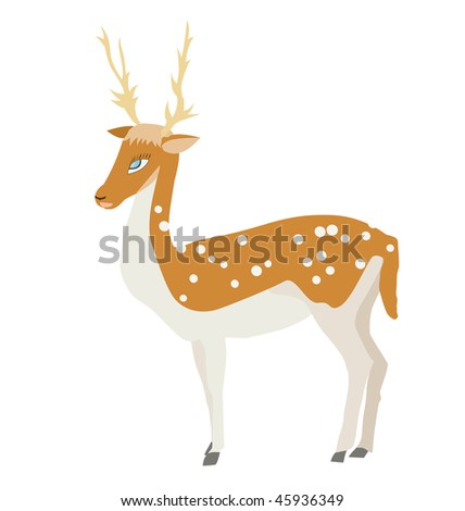 cartoon deer - stock vector