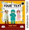 cartoon doctor card - stock vector