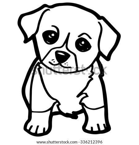 Cute golden retriever puppy dog vet stock vector 478453864 for Collie coloring pages