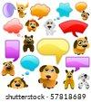 cartoon dogs - stock vector