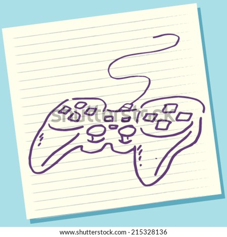 Cartoon Doodle Game Controller Sketch Vector Illustration