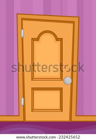 Cartoon door interior vector eps10 illustration & Cartoon Door Interior Vector Eps 10 Illustration Stock Vector (2018 ...
