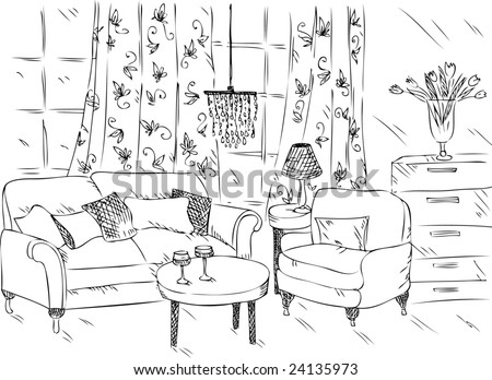 Cartoon Living Room Clipart also Floor plans also Bedroom drawing easy further Plano De Casa De C o furthermore 145381894199216310. on interior for living room