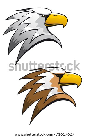 Cartoon eagle symbol isolated on white for tattoo or another design or logo template. Jpeg version also available in gallery - stock vector