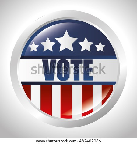 cartoon elections vote flag usa design