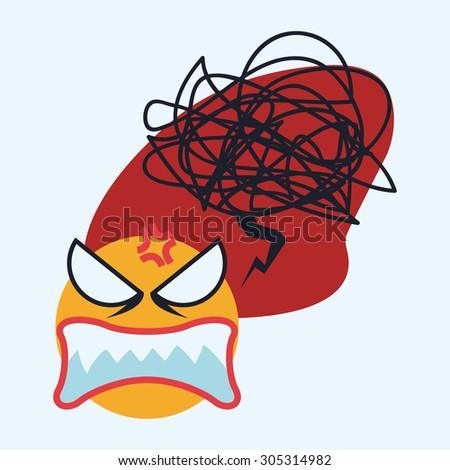 Cartoon emotions design, vector illustration eps 10. - stock vector