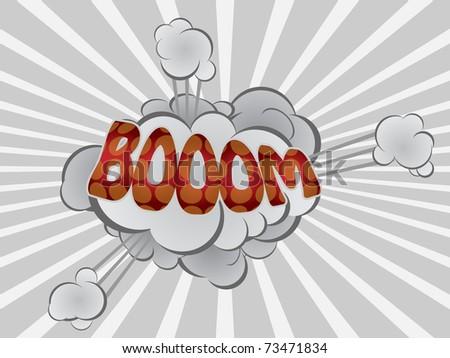 cartoon explosion - stock vector