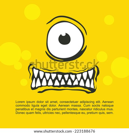 Cartoon expression monster - stock vector