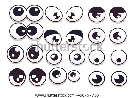Cartoon Eyes Set for Mobile Game Characters