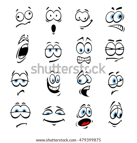 cartoon eyes face expressions emotions cute stock photo (photo