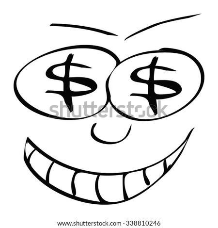 cartoon face - stock vector