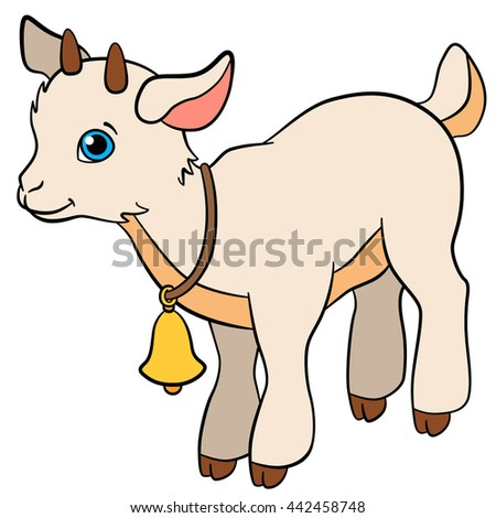 Cartoon Farm Animals Kids Little Cute Stock Vector ...