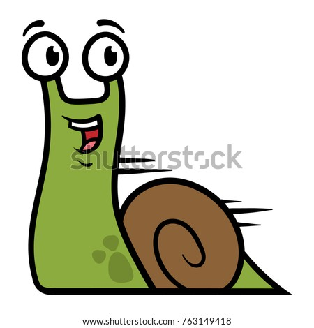 Cartoon Fast Snail Character