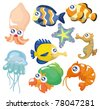 cartoon fish collection ,icon set - stock vector