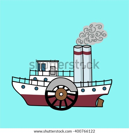 Steamboat Stock Vectors, Images & Vector Art | Shutterstock